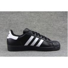 Adidas Superstar черные с белыми полосками